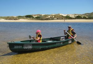 Canoeing on the Margaret River is just 5 minutes drive from Edge Of The Forest Accommodation in Margaret River