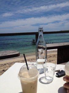 white elephant cafe amazing food, stunning views, swimming