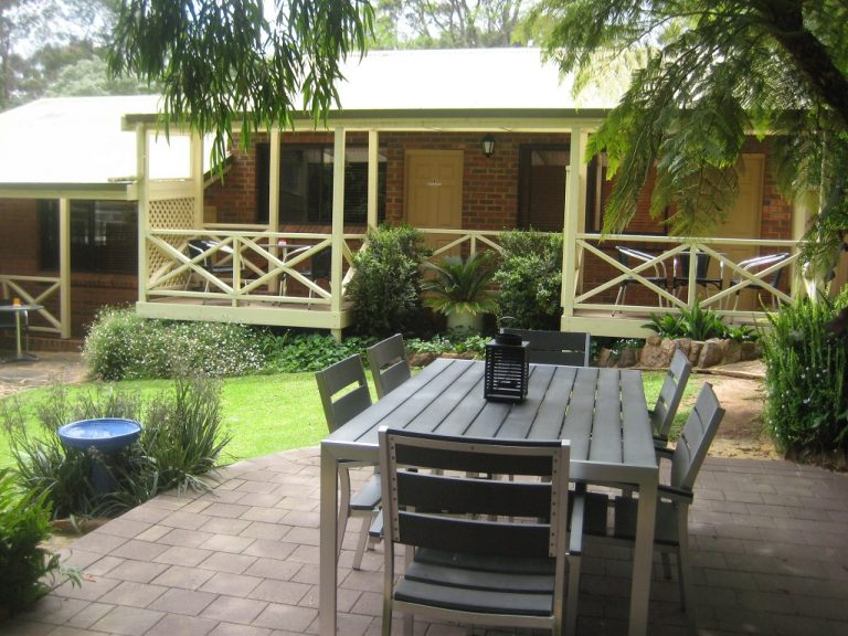 Guest garden at Edge Of The Forest Motel Margaret River Acco. Ovation